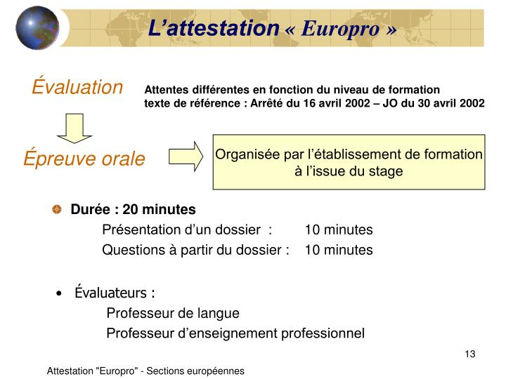 L'attestation