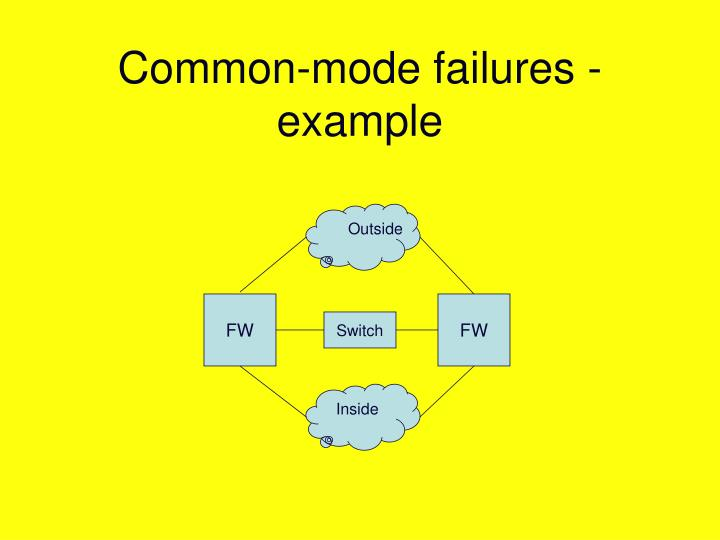 Common-mode failures - example