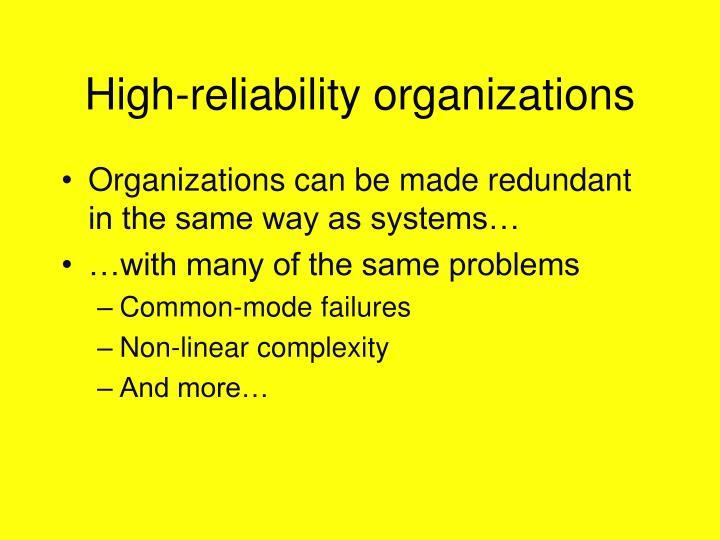 High-reliability organizations
