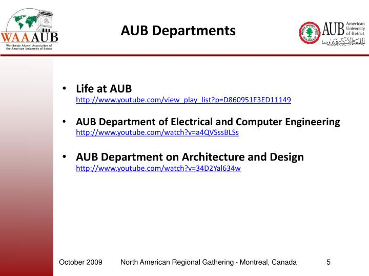 AUB Departments