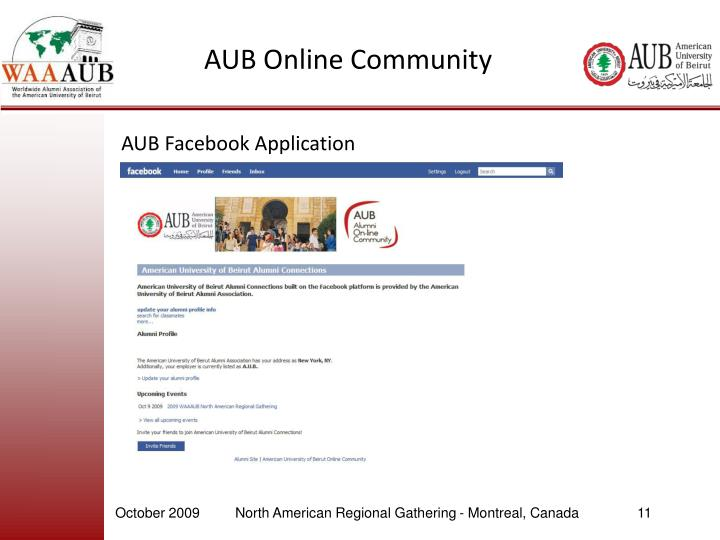 AUB Online Community
