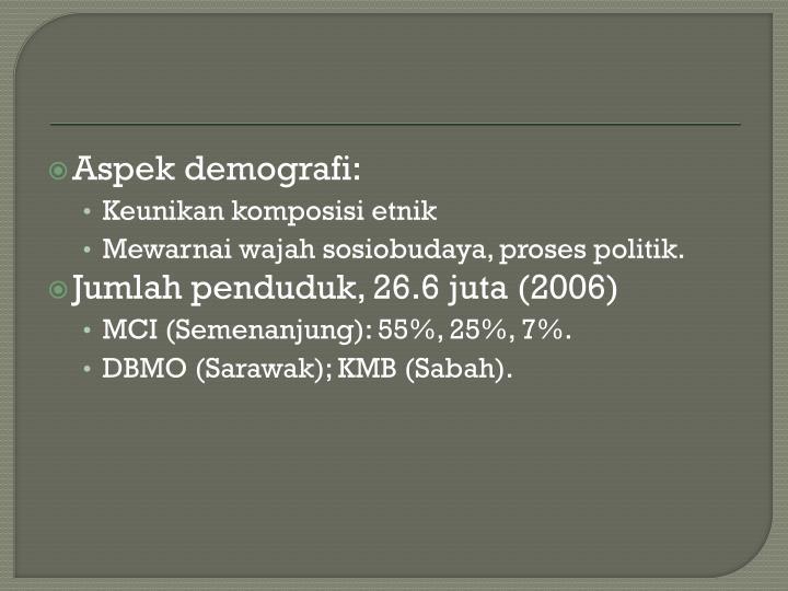 Aspek demografi: