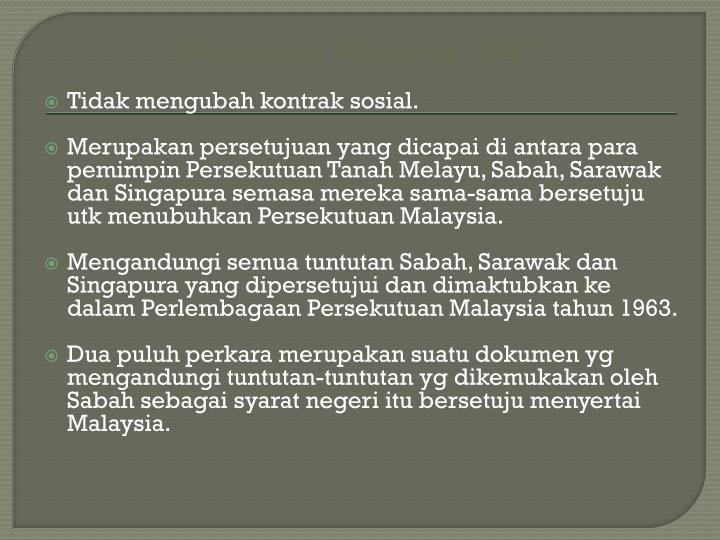 Perjanjian Malaysia, 1963
