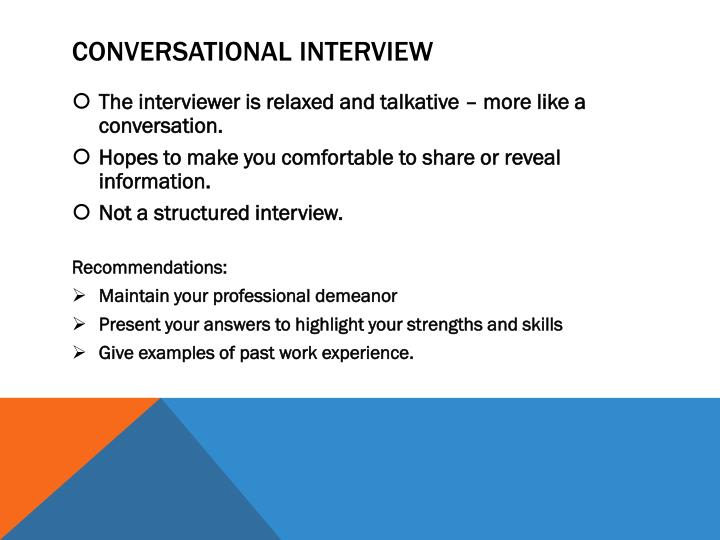 Conversational Interview