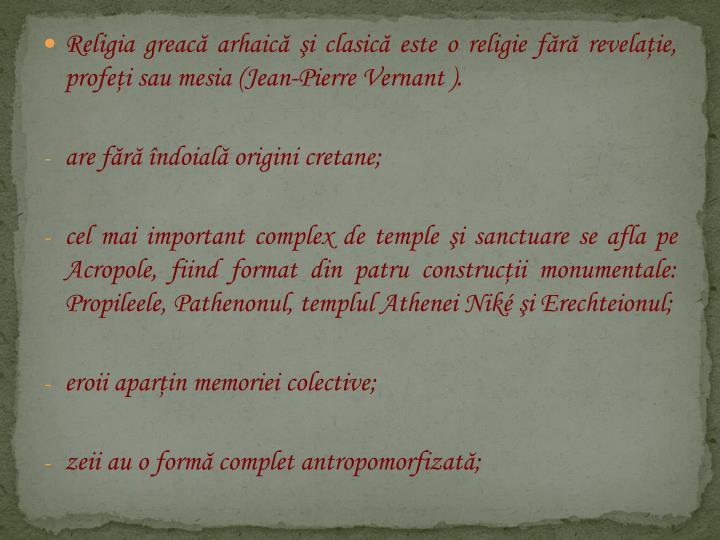 Religia greacă arhaică şi clasică
