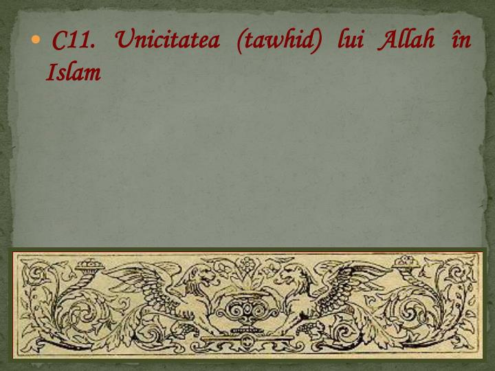 C11. Unicitatea (tawhid) lui Allah n Islam
