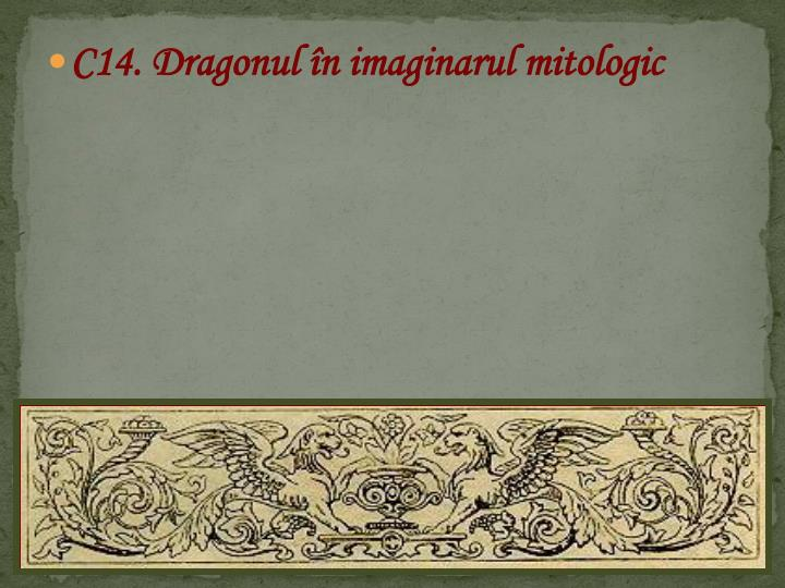 C14. Dragonul în imaginarul mitologic