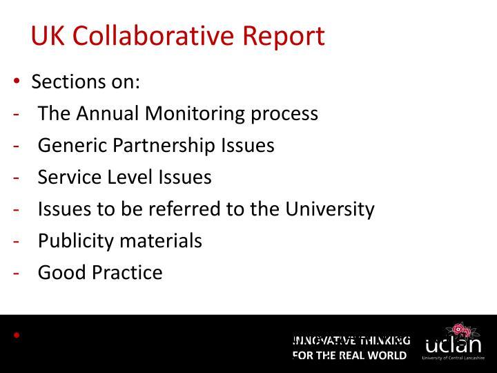 UK Collaborative Report