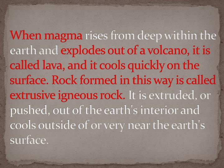 When magma