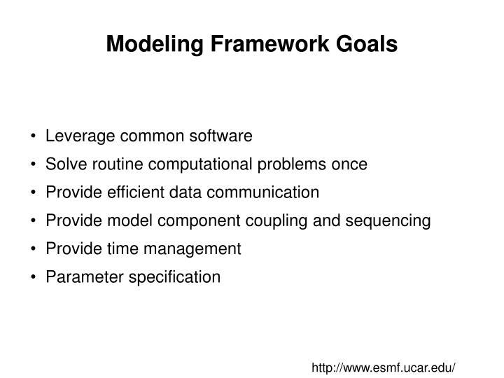 Modeling Framework Goals