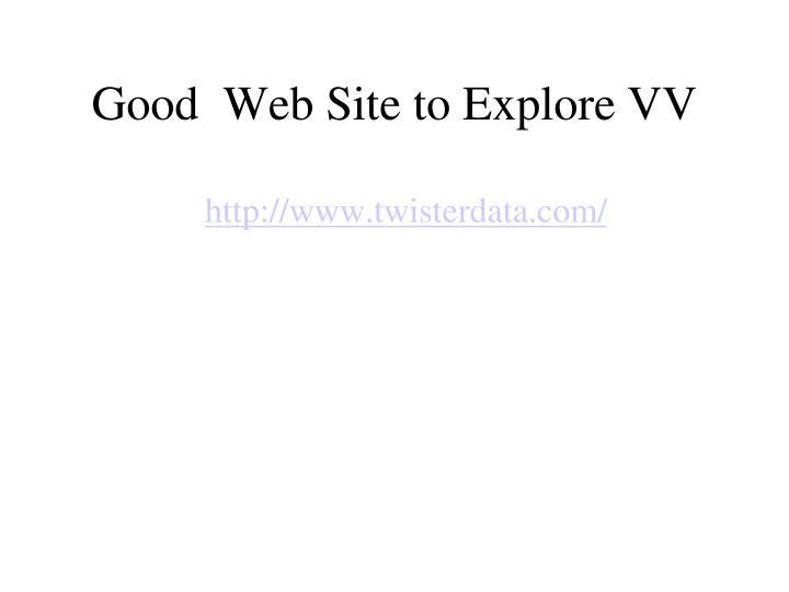 Good  Web Site to Explore VV