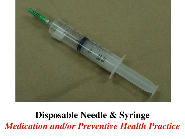 Disposable Needle & Syringe