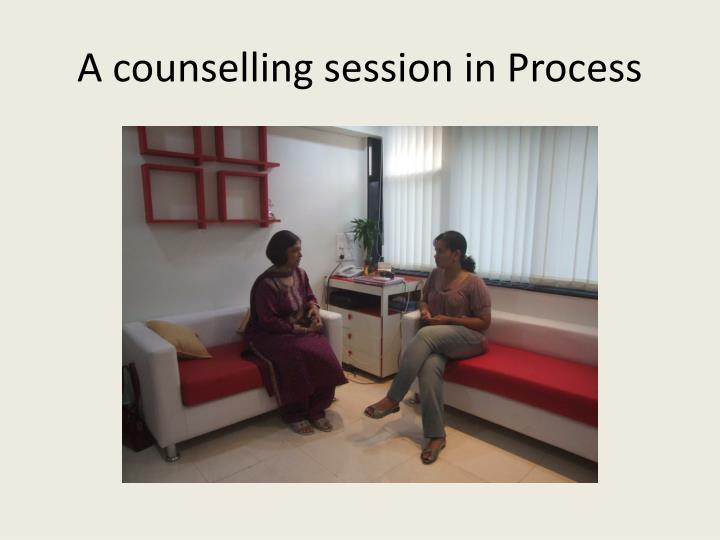 A counselling session in Process