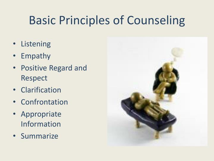 Basic Principles of Counseling