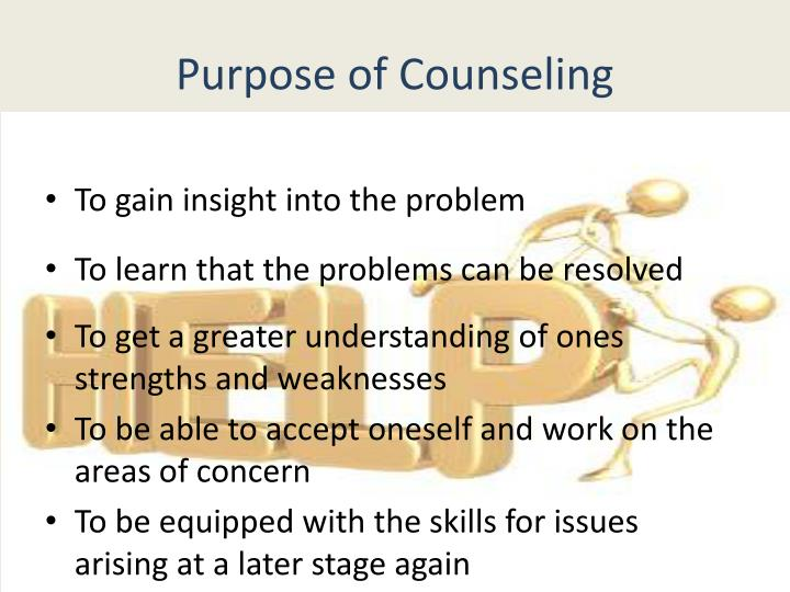 Purpose of Counseling