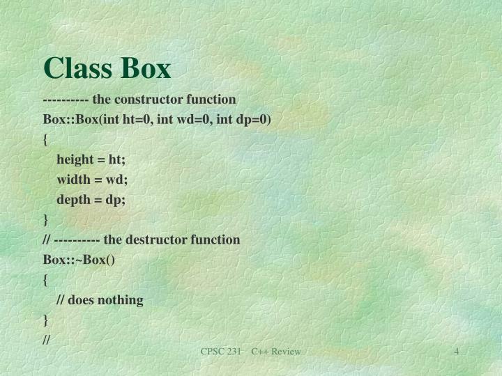 Class Box