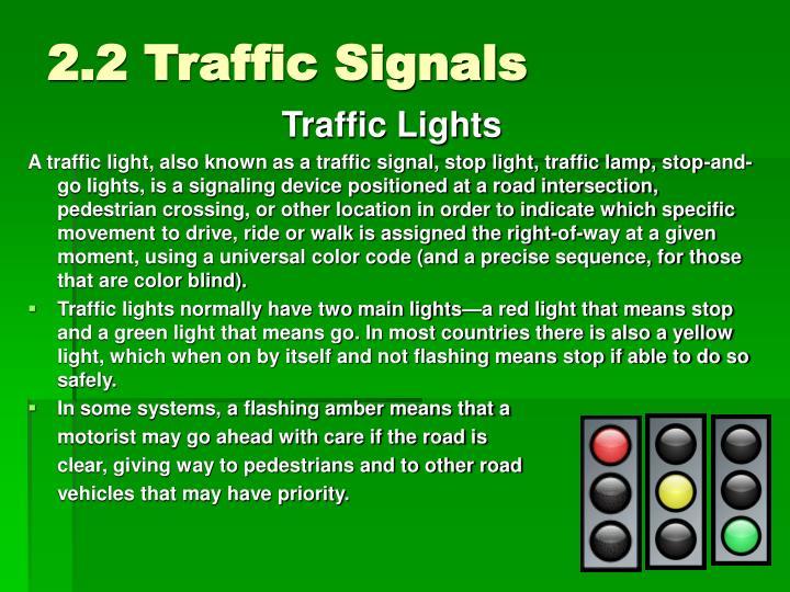 2.2 Traffic Signals