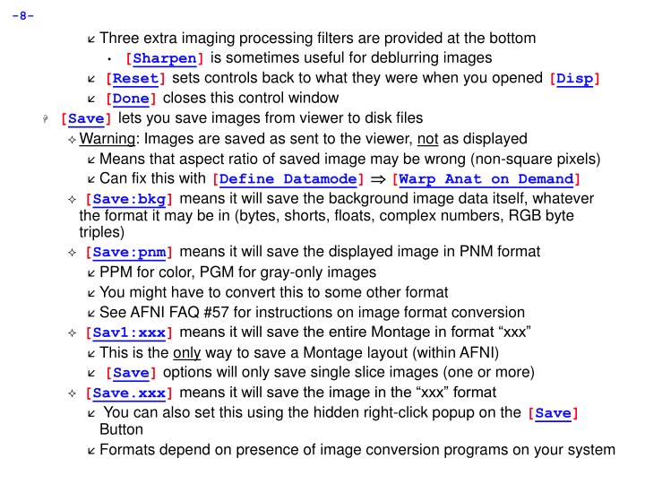 Three extra imaging processing filters are provided at the bottom