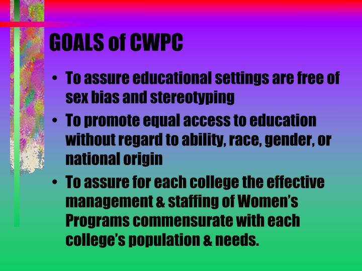 GOALS of CWPC