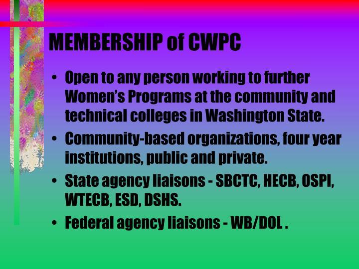 MEMBERSHIP of CWPC