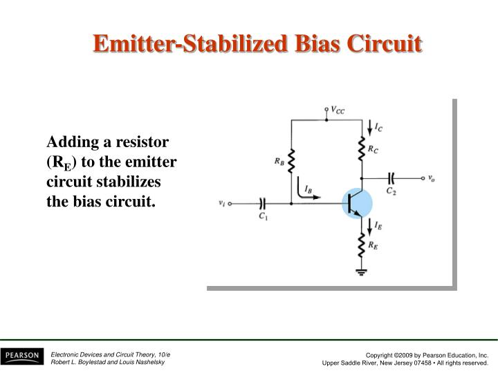 Emitter-Stabilized Bias Circuit
