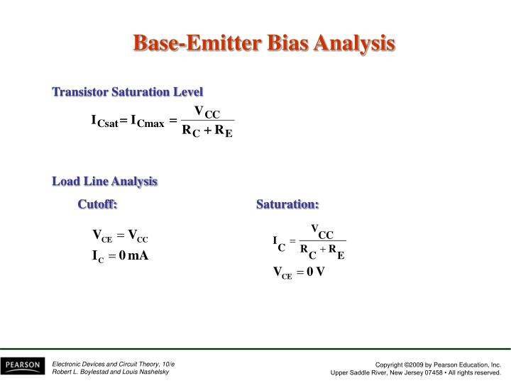 Transistor Saturation Level