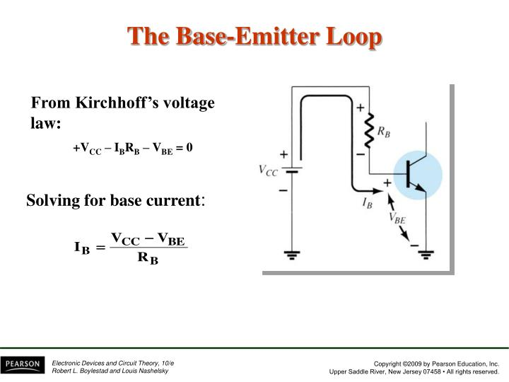 The Base-Emitter Loop