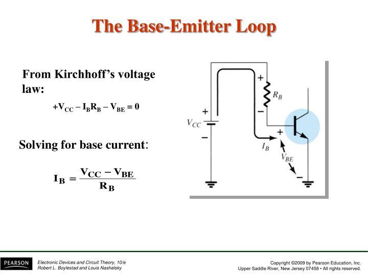 The Base-Emitter Loop