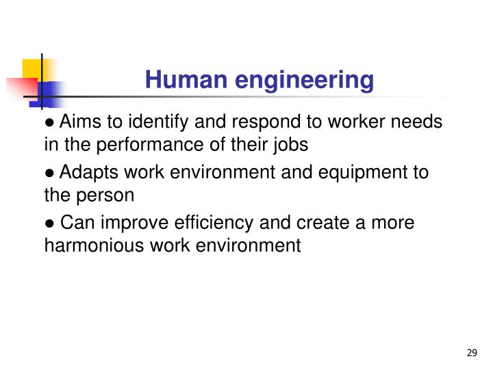 Human engineering