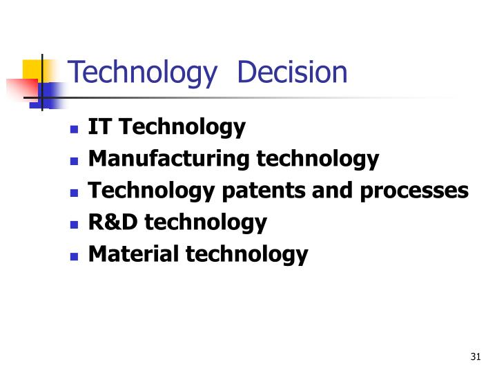 Technology  Decision