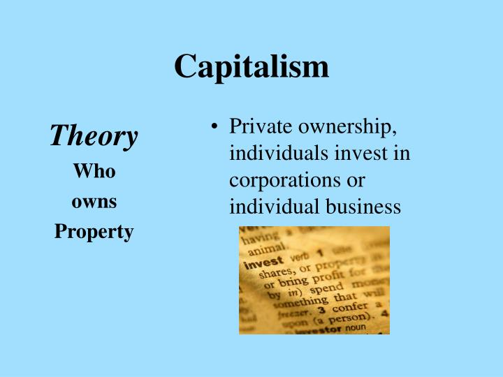 an overview of theories of capitalism and communism Capitalism and socialism are fairly restricting schools of thought in economics socialists think economical disparity is terrible for society, and the communism is by and large thought to be the inverse of capitalism, which is a society that underscores private ownership and the private deal and.