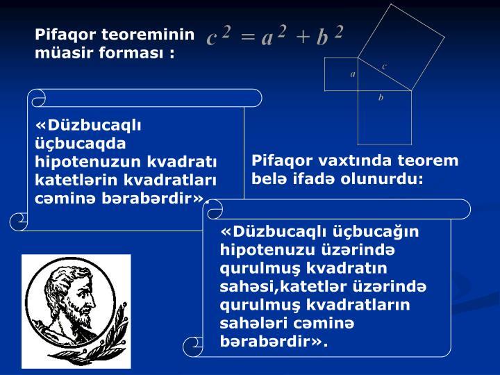 Pifaqor teoreminin