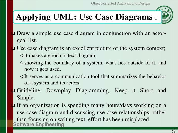 Applying UML: Use Case Diagrams