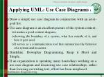applying uml use case diagrams 1