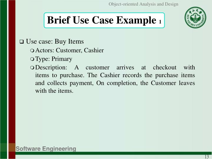 Brief Use Case Example