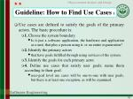 guideline how to find use cases 1