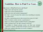 guideline how to find use cases 2