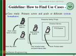 guideline how to find use cases 4