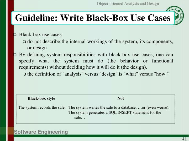 Guideline: Write Black-Box Use Cases