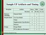 sample up artifacts and timing