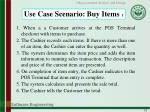 use case scenario buy items 1