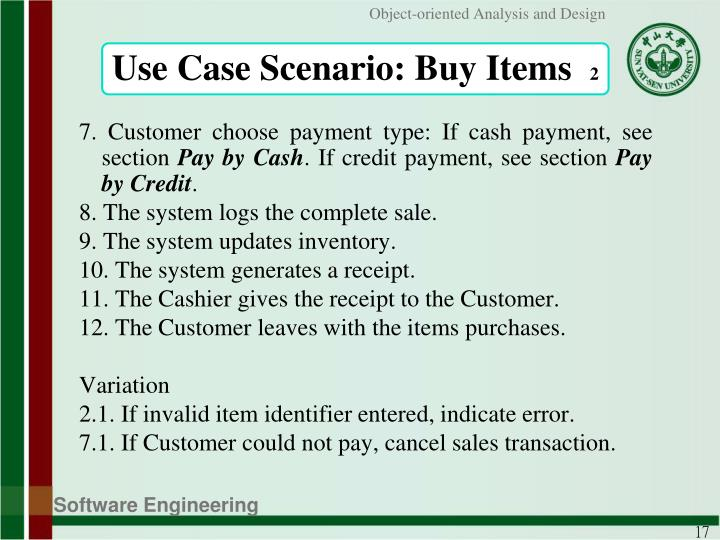 Use Case Scenario: Buy Items