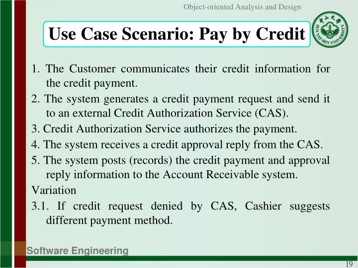 Use Case Scenario: Pay by Credit
