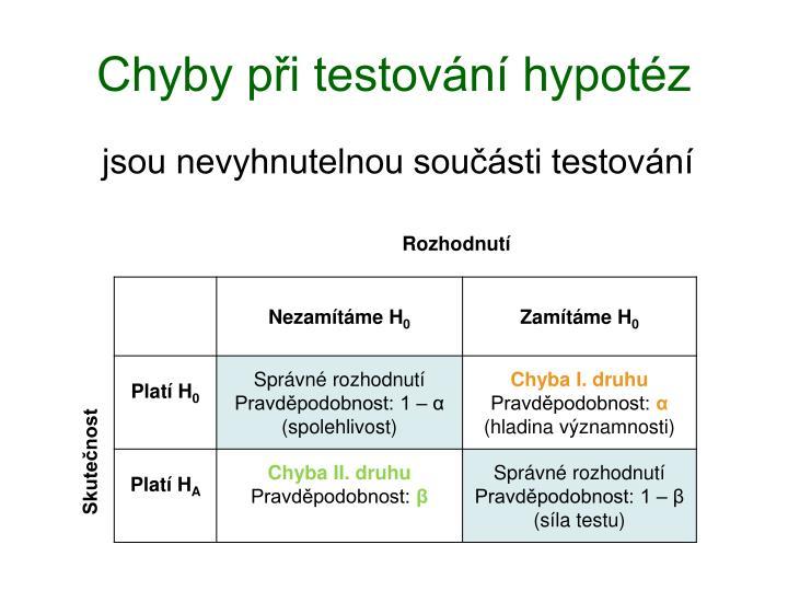 Chyby při testování hypotéz