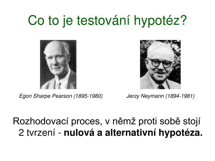 Co to je testování hypotéz?