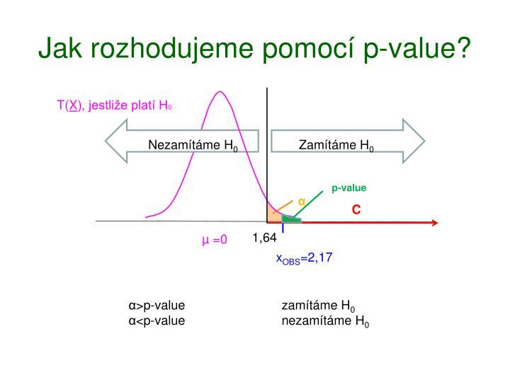 Jak rozhodujeme pomocí p-value?