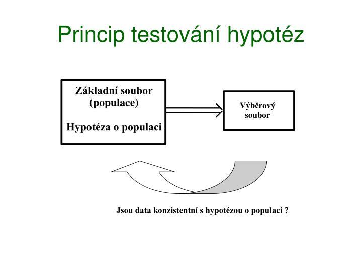 Princip testování hypotéz