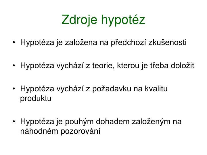 Zdroje hypotéz