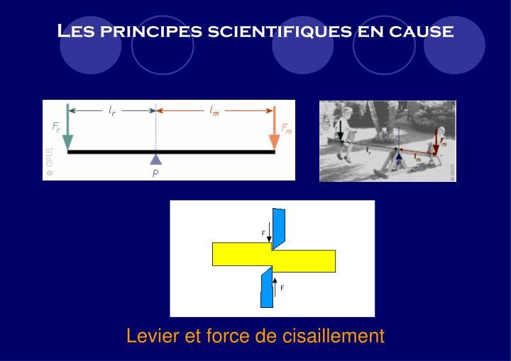Les principes scientifiques en cause