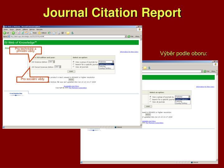 Journal Citation Report